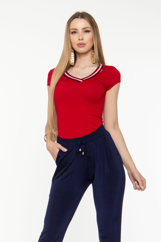 Viki póló - piros