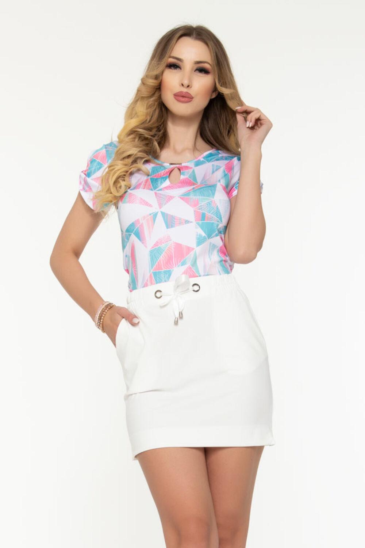 Darinka póló - pasztell mintás