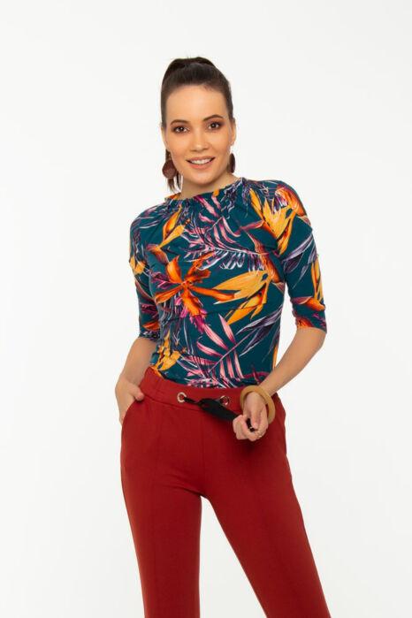 Gina póló - virágmintás