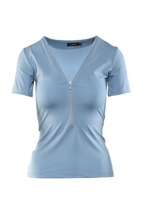 Cippes dekoltázsú póló - Kék