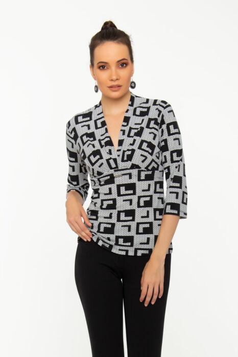 Szonja póló - fekete/fehér