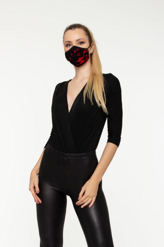MYA Fashion - Csipkés maszk - Piros