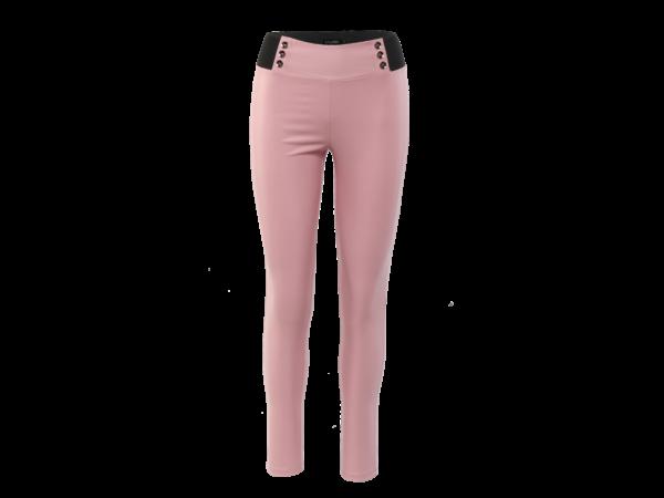 6 gombos bőrhatású nadrág - Rózsaszín