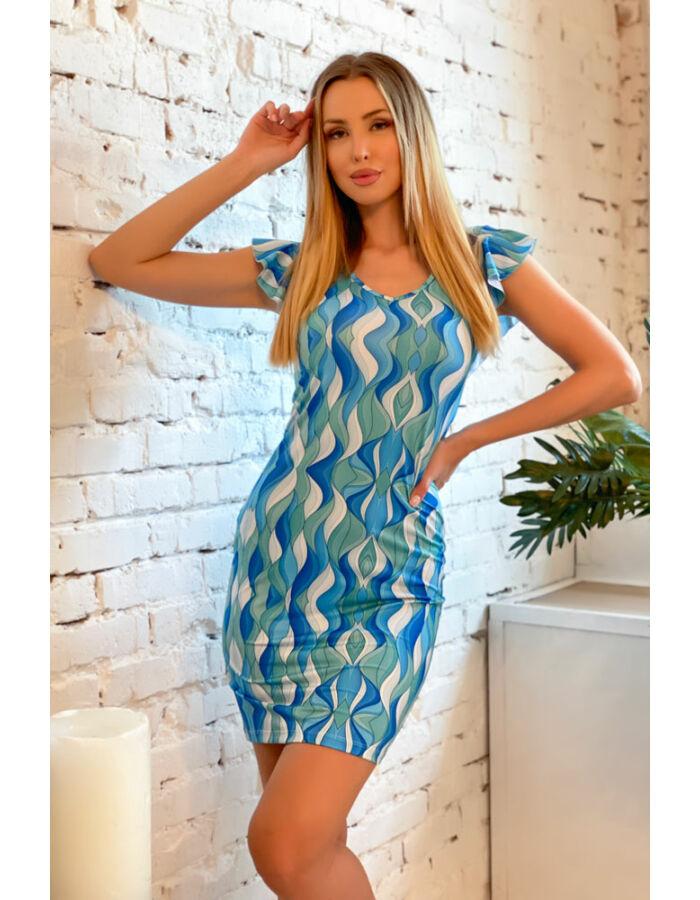 Kincső ruha - Kék hullámok