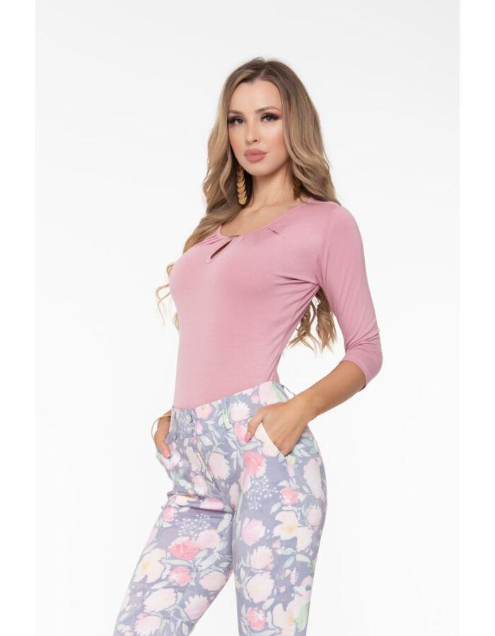 Reni póló - fáradt rózsaszín